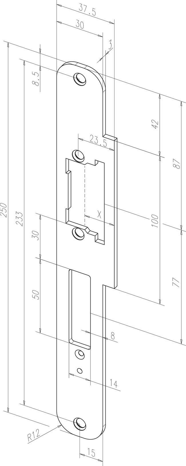 Flachschließbleche ProFix® 1, vorgerüstet für Riegelschaltkontakt